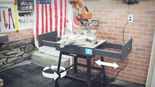 Cheap & Easy Mobile Miter Saw Stand - DIY