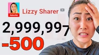 LIVE STREAM GONE WRONG!! LIZZY SHARER 3 MILLION SUBSCRIBER SPECIAL