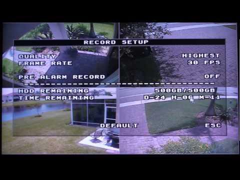 H.264 Surveillance DVR Setup