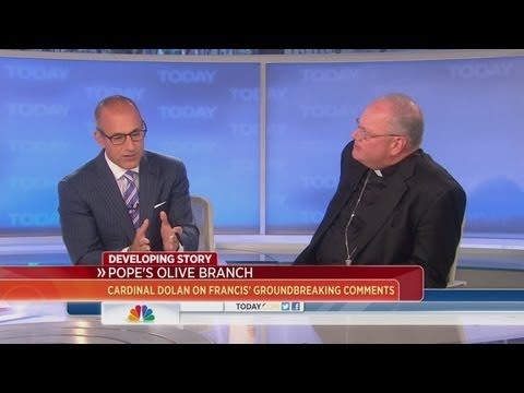 Cardinal Timothy Dolan discusses Pope Francis' comments on gay priests