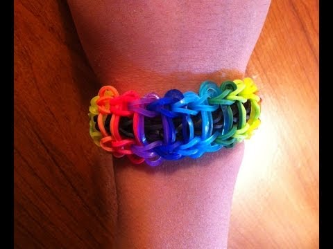 How To Make Rainbow Loom Ladder Bracelet   Fastest. Easiest Video