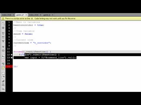 How to Make a Text Based Browser Game | Part 2