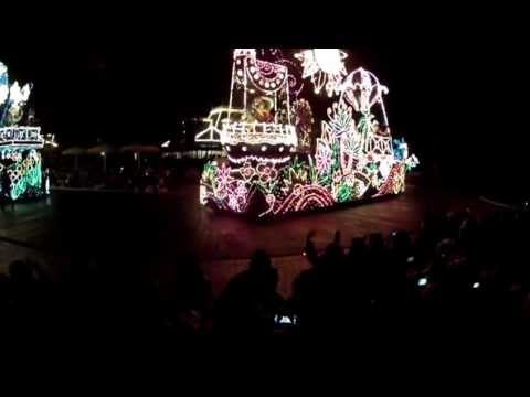 Tokyo Disneyland Electrical Night Time Parade with amazing colorful light show ! March 2013 GOPR1093