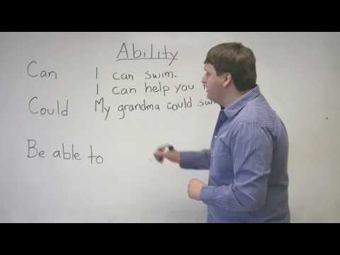 Speaking English – Expressing ability with CAN, COULD, BE ABLE TO