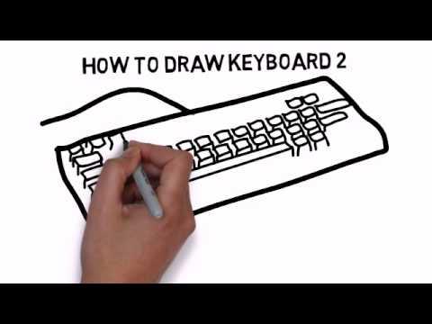Видео как нарисовать клавиатуру