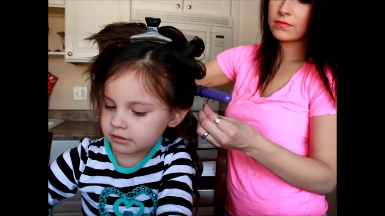 How To Curl Your Toddlers Hair Cute Amp Simple Youtube