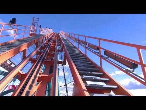 Goliath Front POV Six Flags Magic Mountain Giant Roller Coaster