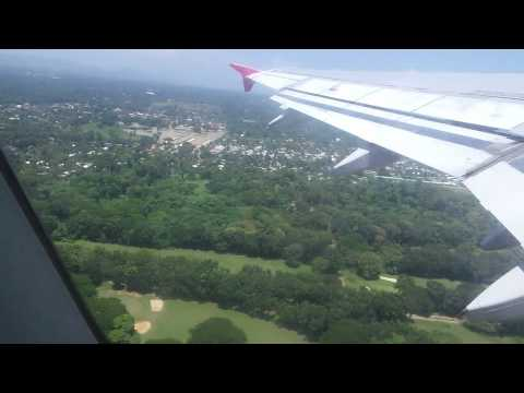 AirAsia taking off from Puerto Princesa Airport