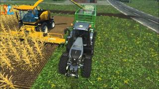 LS 15 New Holland FR 9090 & New Holland Easy Collect 1053