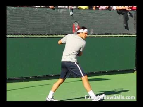 Roger Federer Backhands in Slow Motion