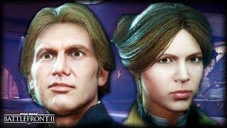 Star Wars Battlefront 2 BROKEN NOSE? - Funny Gameplay Moments (Han Solo's Broken Nose)