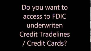 Credit Approval - Access to Tradelines and Credit Cards