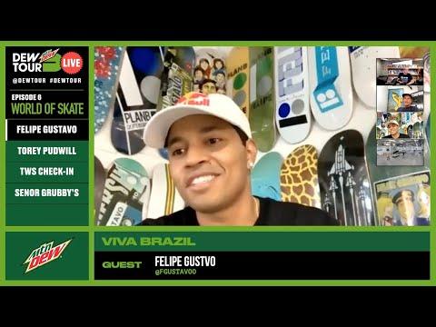 Torey Pudwill,  Felipe Gustavo   Dew Tour Live Episode 6