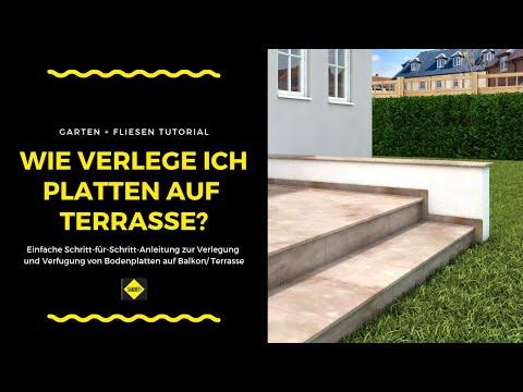 Bodenfliesen / Bodenplatten Auf Balkonen Und Terrassen Verlegen Und Verfugen - SAKRET Heimwerker TV