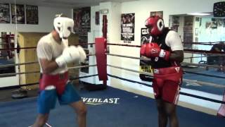 Sergey Kovalev sparing Guillermo Jones