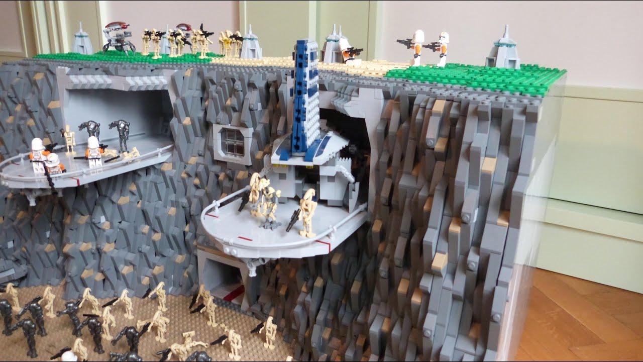 Lego star wars the clone wars deutsch clone base auf utapau moc youtube - Lego star wars base droide ...