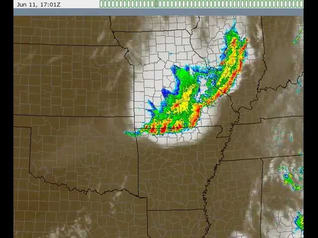 Derecho Radar/Satellite Loop, June 11th, 2012