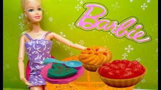 Mainan Anak Perempuan! Memasak Mainan! Dapur Boneka Barbie Sarapan! Barbie Toys for Girls