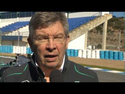 2013 MERCEDES AMG PETRONAS Car Launch Ross Brawn Interview