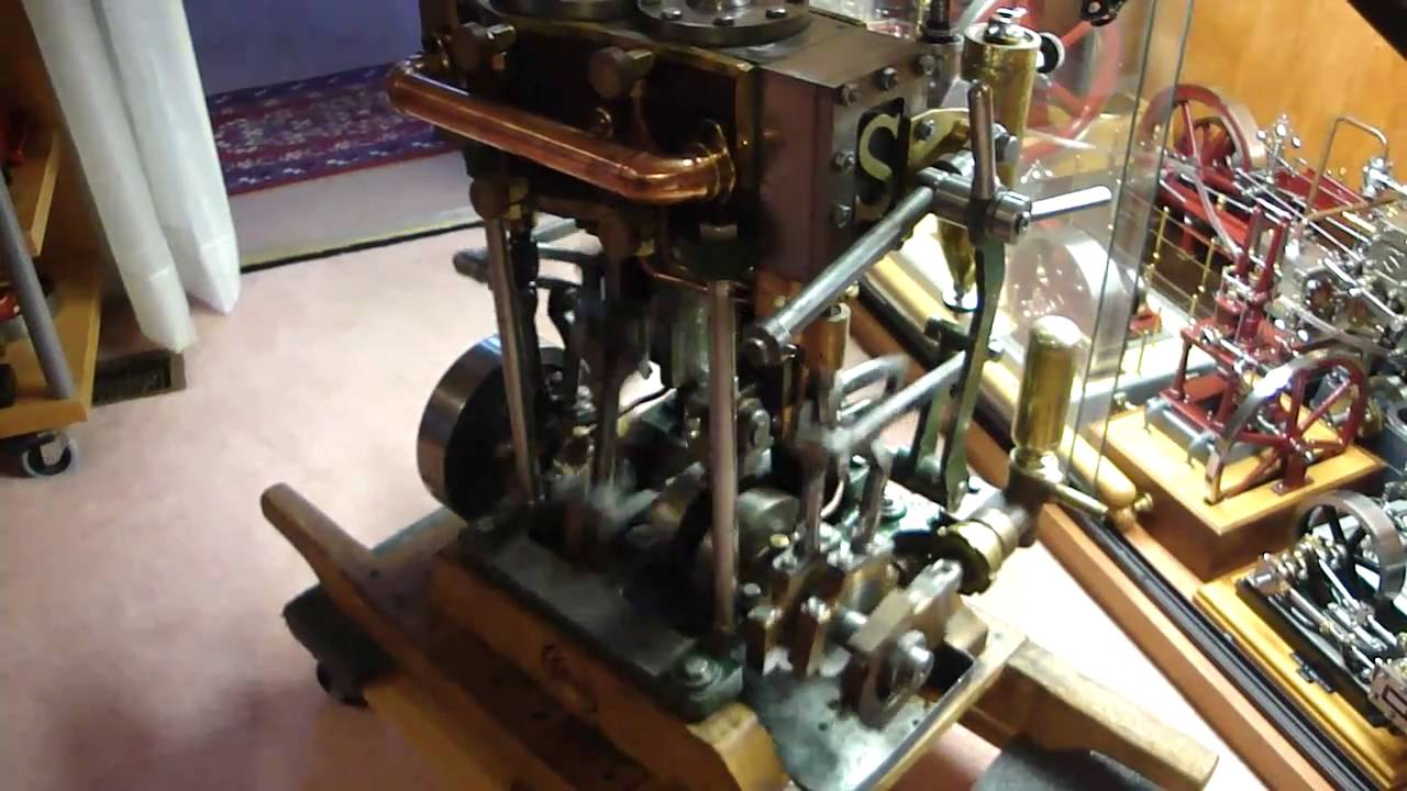 Stuart Turner 6a Live Steam Engine Marine Compound Running