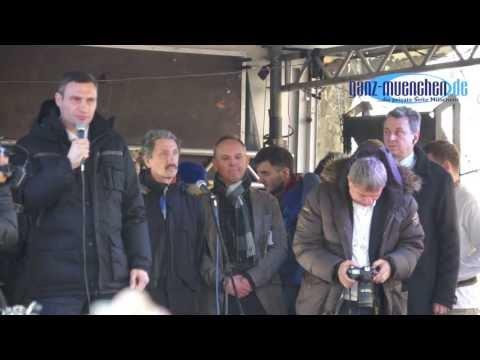Sicherheitskonferenz 2014: Vitali Klitschko @ Ukraine Demo am Sendlinger Tor
