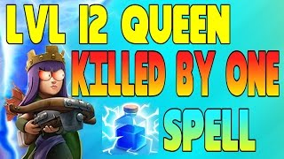 CLASH OF CLANS - ARCHER QUEEN KILLED BY 1 LIGHTING SPELL!