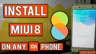 How-to install MIUI 8 in any Xiaomi Phone Without Computer!