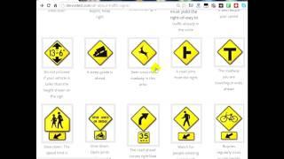 DMV Virginia traffic signs