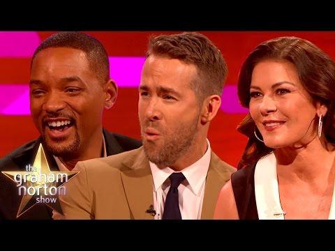 Will Smith, Ryan Reynolds and Catherine Zeta-Jones Talk Accents - The Graham Norton Show