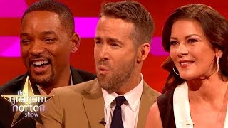 Will Smith, Ryan Reynolds and Catherine Zeta-Jones Talk Accents - The Graham Norton Show