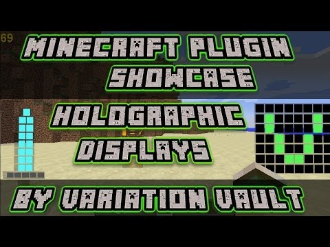 Minecraft Bukkit Plugin - Holigraphic Displays - Create images and text!