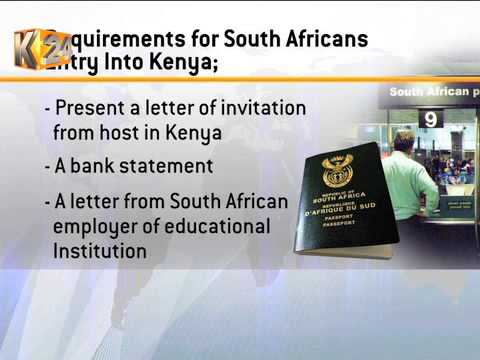 Kenya, South Africa To Meet Over Visa Fees' Row