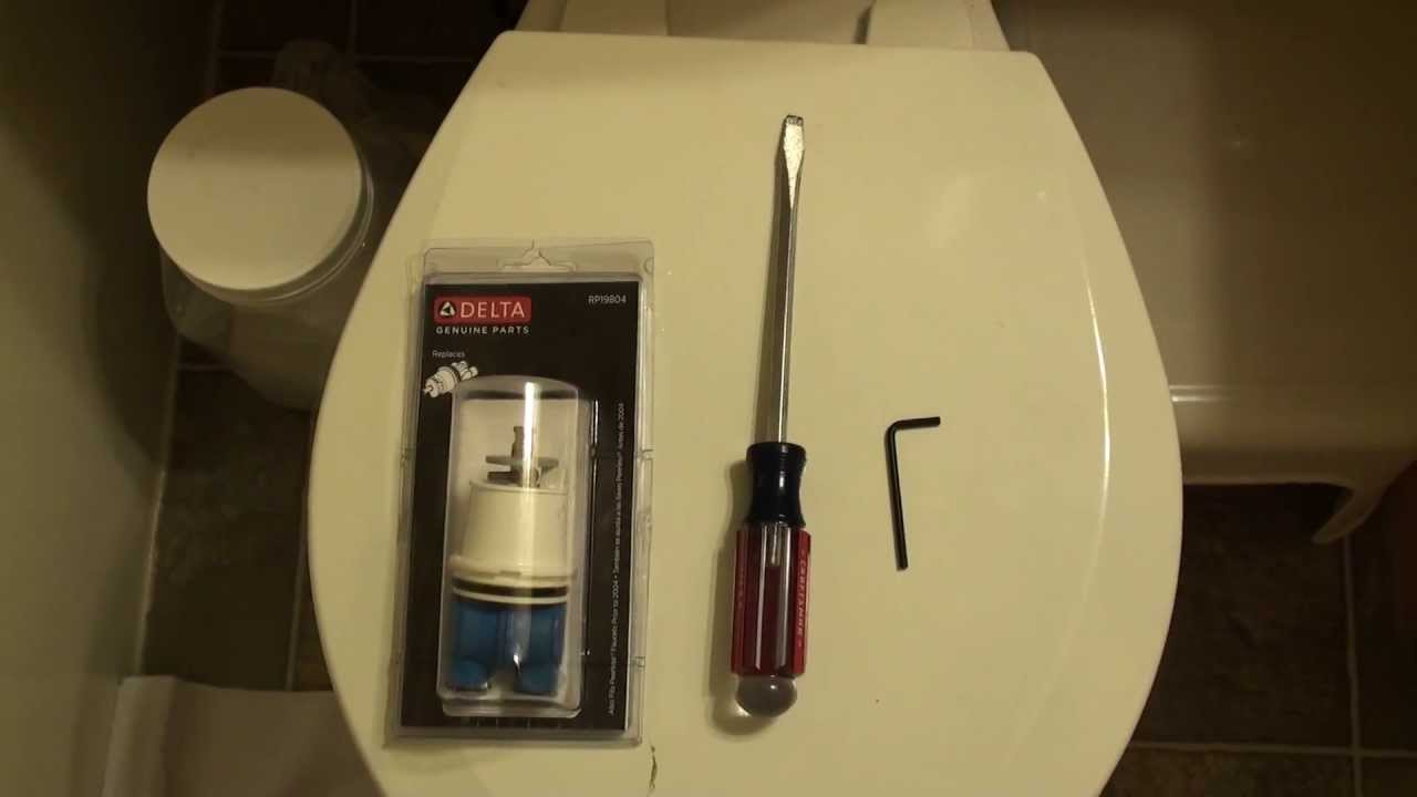 How To Replace A Delta Tub Faucet Cartridge YouTube