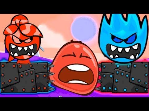 ОГОНЬ И ВОДА НОВЫЙ КРАСНЫЙ ШАРИК 4 ПОДЗЕМНЫЕ ХОДЫ для детей RED BALL 4 Volume 5 INTO THE CAVE