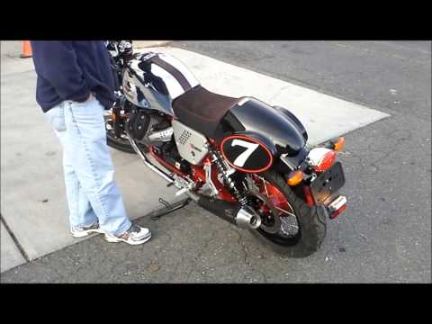 Moto Guzzi V7 Racer with Agostini Mandello Exhaust.wmv
