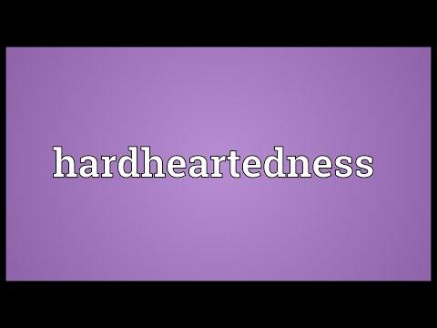 Header of hardheartedness