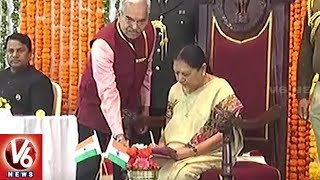 Anandiben Patel Sworn In As New Madhya Pradesh Governor