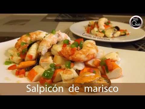 Salpicón de marisco para Navidad, delicioso y fácil,  #248 - Cocina en video.com
