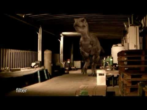 JURASSIC PARK: T Rex Test CG dinosaur animation and compositing (tutorial making of)