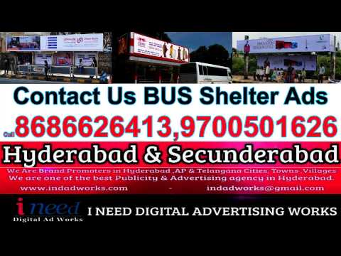 Bus Stop Shelters Ads in Hyderabad & Bus Stop Shelters Ads in Secunderabad