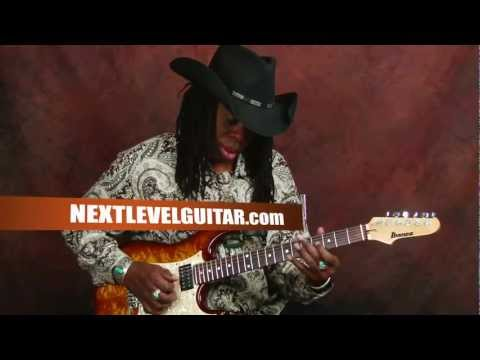 0 Larry Mitchell lead guitar lesson learn soloing using major scale all over neck Ibanez electric
