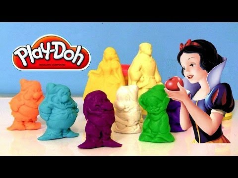 Play Doh Snow White and the 7 Dwarfs Playset Disney Princess Playdough Snow and Evil Queen Music Videos