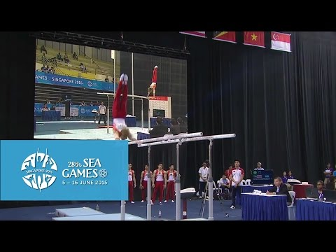 Gymnastics : Men's Team Competition Highlights (Day 1) | 28th SEA Games Singapore 2015