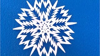 How to make Paper Snowflakes Easy