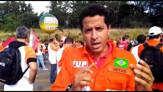 Coordenador do Sindipetro Bahia participa de ato na RLAM