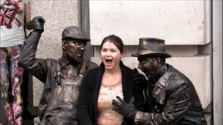 The Drunk Bandits. Living Statues. London