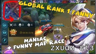 GLOBAL RANK 1 FANNY | QUADRAKILL | FUNNY MAP RACE AGAINST JOHNSON | ᴢxυαи εϊɜ GLORIOUS LEGEND RANKED