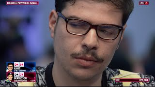 Mustapha Kanit Runs a Huge Bluff in the EPT Dublin €25K High Roller | PokerStars