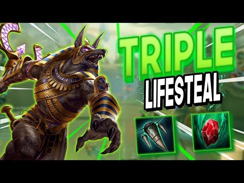 Smite: SEASON 5 Triple Life Steal Anubis Build - TYPHON'S FANG IS SO STRONG!