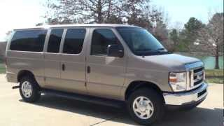 HD VIDEO 2012 FORD E350 12 PASSENGER VAN USED FOR SALE SEE WWW.SUNSETMILAN.COM